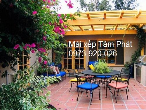 Mái che đẹp cho không gian nhà ở thêm rộng rãi, lung linh và thoải mái