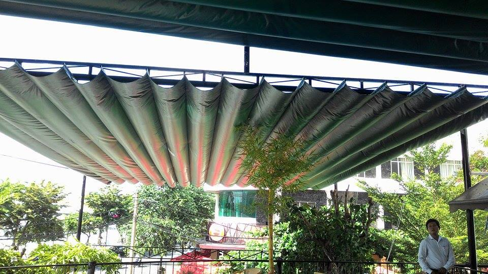Mái xếp mái hiên di động đẹp cho không gian nhà bạn thêm mát mẻ, thoáng mát