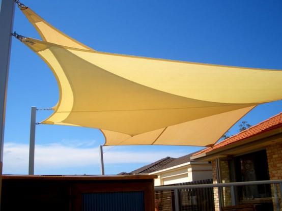 bạt che nắng mưa tạo vẻ mỹ quan cho ngôi nhà thân yêu của bạn